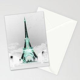 pariS Black & White + Mint Stationery Cards