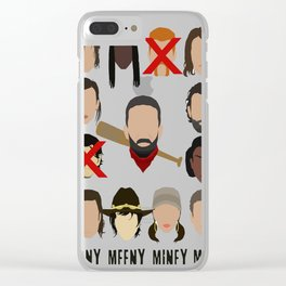 Negan - Eeny Many Moe Clear iPhone Case