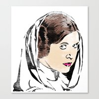 princess leia Canvas Prints featuring Leia by Hey!Roger