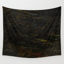 Scribbly Lights Wall Tapestry