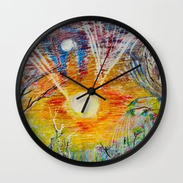 Sun Child Wall Clock