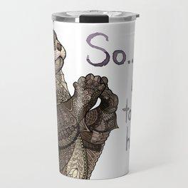 Otter Valentine Travel Mug