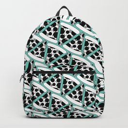 Pizza Pattern (Teal) Backpack