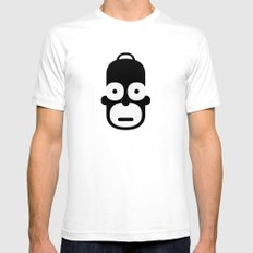homer SMALL White Mens Fitted Tee