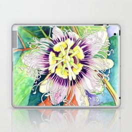 Passiflora edulis f. flavicarpa – Liliko'i, Water Color Laptop & iPad Skin