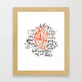 Humanitarian Heart Framed Art Print