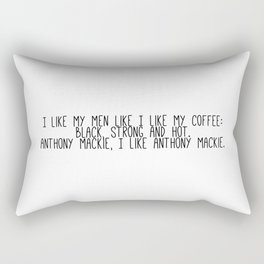 Anthony Mackie is my coffee Rectangular Pillow