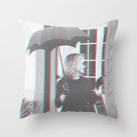 jessica lange Throw Pillows featuring Jessica Lange Fiona Goode Supreme by NameGame