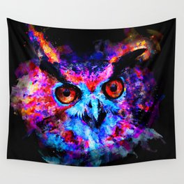 owl purple blue perfect Wall Tapestry