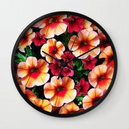 Flower Peach Petunia Wall Clock