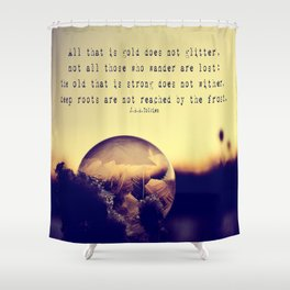 Bubble at Sunrise Shower Curtain
