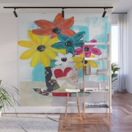 PATCHWORK VASE Wall Mural
