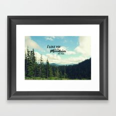 To the Mountains and Back Framed Art Print