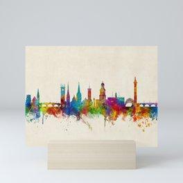 Shrewsbury England Skyline Mini Art Print