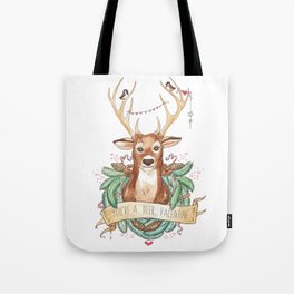 Deer Valentine Tote Bag