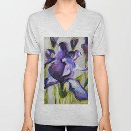 Flower, purple iris Unisex V-Neck