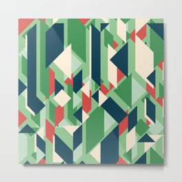 Abstract geometric background. Modern overlapping rectangles and triangles. Metal Print