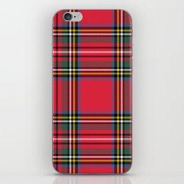 Red & Green Tartan Pattern iPhone Skin
