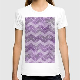 Chevron pattern, watercolors purple T-shirt
