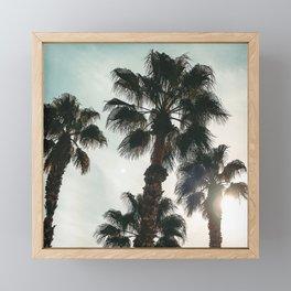 Palm Tree Art Print {1 of 3}   Teal Pastels Topical Beach Plant Nature Vacation Sun Vibes Artwork Framed Mini Art Print