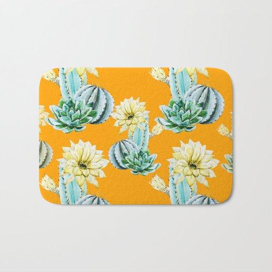 Cactus Pattern 04 Bath Mat