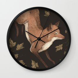 The Fox and Ivy Wall Clock