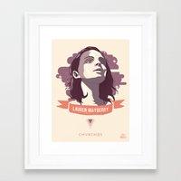 chvrches Framed Art Prints featuring Lauren Mayberry - CHVRCHES by Derek Brown