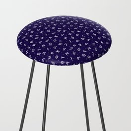 Symbols of Astrology Counter Stool