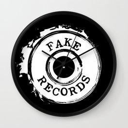 Fake Records Wall Clock