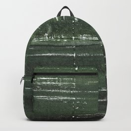 Kombu green abstract watercolor background Backpack