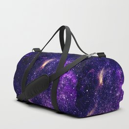 Ultra violet purple abstract galaxy Duffle Bag
