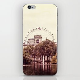Whitehall & the London Eye from St James's Park iPhone Skin