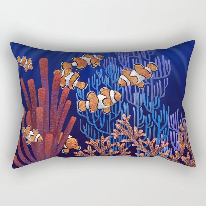 Clown Fish tank Rectangular Pillow