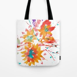 Exploded Abstract Flowers Tote Bag