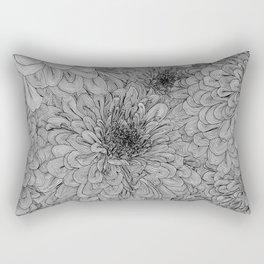 Linework Zinnias Rectangular Pillow