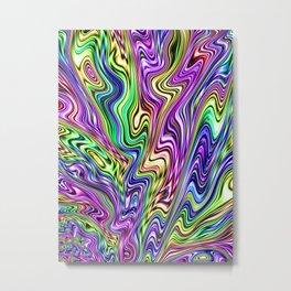 Acid Trip Rainbow Metal Print