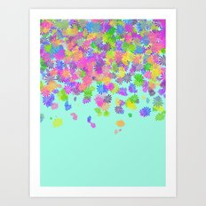 Groovy on Mint Art Print