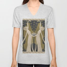 Art Nouveau Women Unisex V-Neck
