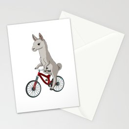 Lama on the bike Gift Idea Stationery Cards