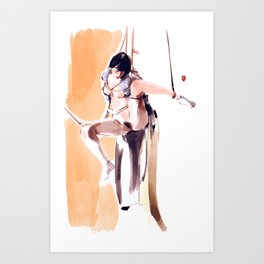 Watercolour Kimino No.4 Art Print
