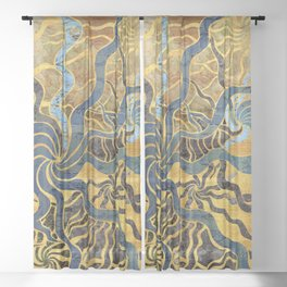 starry starry sea Sheer Curtain