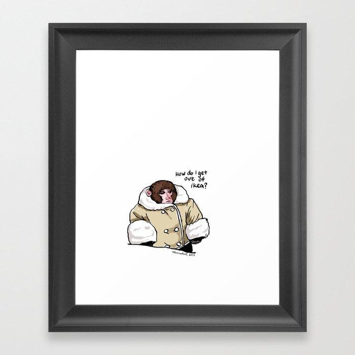 Baby Ikea Monkey Framed Art Print by elleinadart | Society6