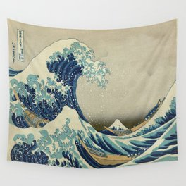 Vintage poster - The Great Wave Off Kanagawa Wall Tapestry