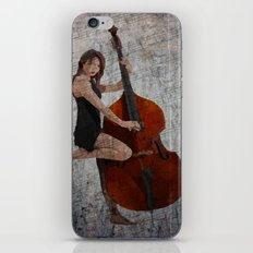 Girl on Bass iPhone & iPod Skin