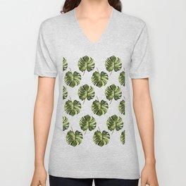 Monstera Broad Leaf - Pattern Unisex V-Neck