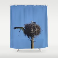 scandal Shower Curtains featuring go away animal! by Vladislav Mihaylov
