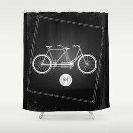vintage bicycle Shower Curtain