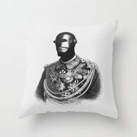 general Throw Pillows featuring General Electric by Jorge Lopez