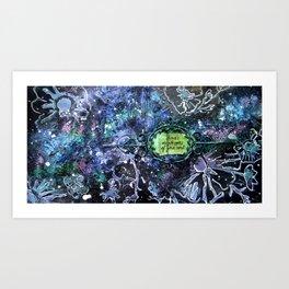 Glittery Flower Art Art Print