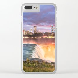 Niagara Falls: The Flow Aglow Clear iPhone Case
